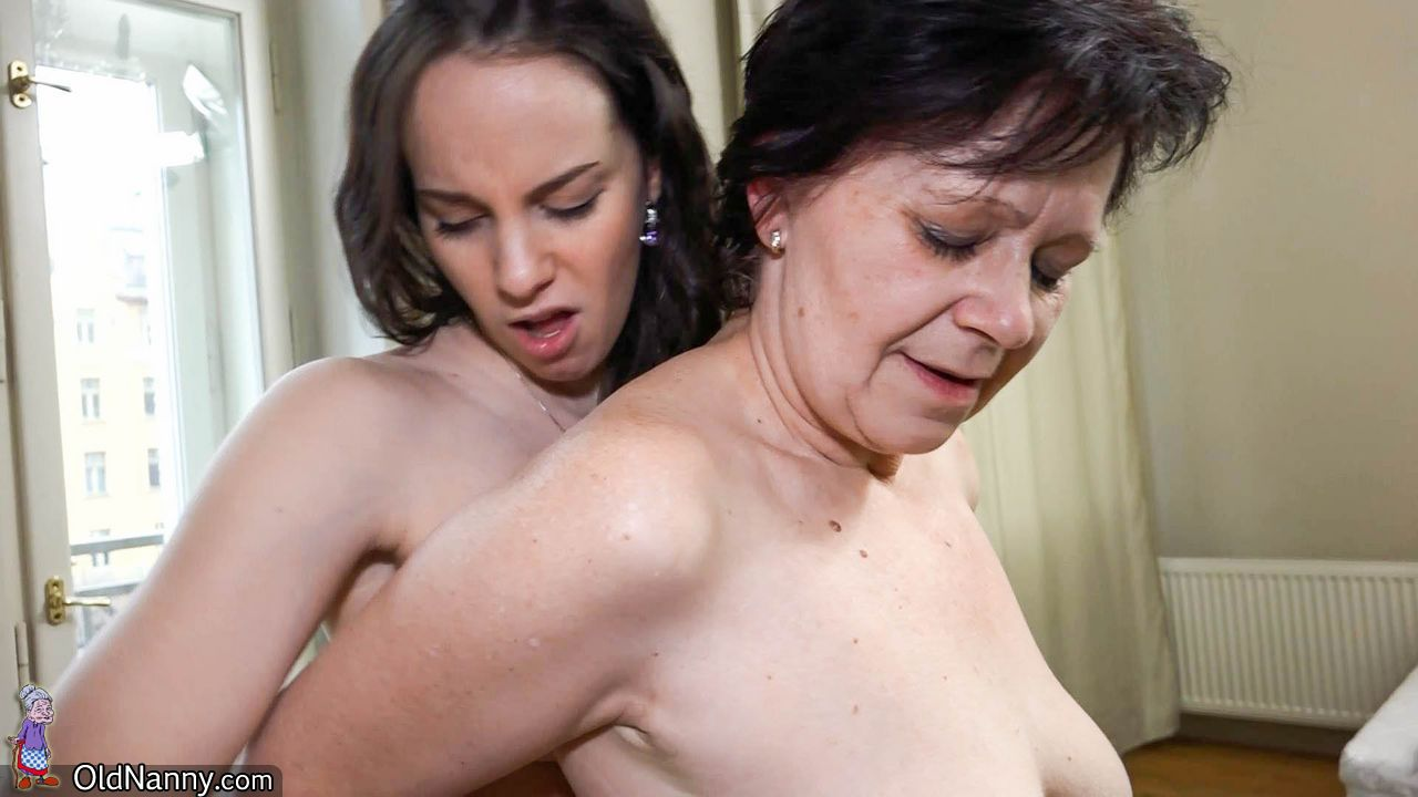 Lush grandmothers have intercourse with young femmes