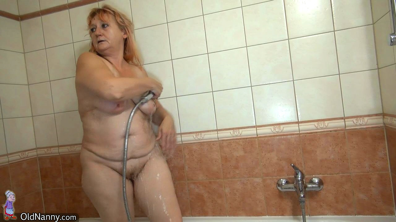 Ultra-kinky mature need faux-cock in shower